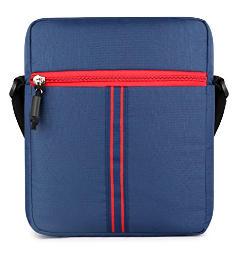 The Clownfish 5 Liters Unisex Polyester Tablet Sling Bag| Sporty Bag|Sling Bag|Tablet / Ipad Sling Bag| Cross Body Sling Bag Multipurpose(Blue)  available at amazon for Rs.499