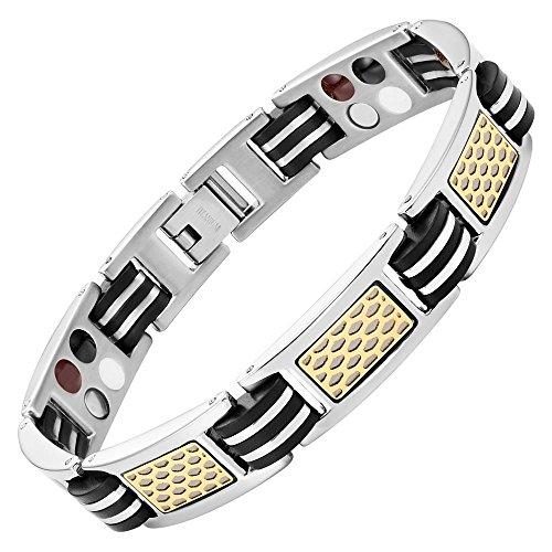 willis-judd-mens-in-titanio-4-elementi-braccialetto-con-due-tonalita-nero-in-gomma-motivo-a-nido-dap