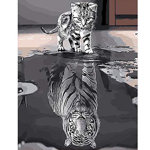 PanDaDa Peinture à l'huile Chat ...