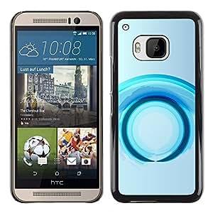 [Neutron-Star] Snap-on Series Handy Schale Schutzhülle Hülle Case Cover für HTC One M9 [Ring zukünftige Wasser Grau Grau]