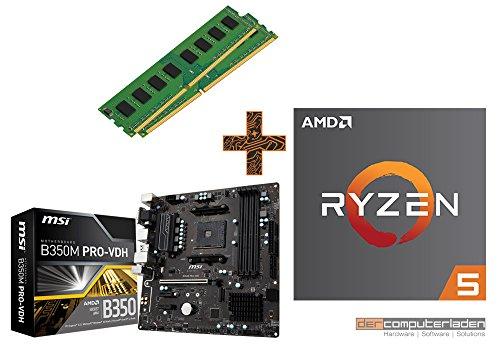 PC Aufrüstkit AMD, 5-2600 6x3.4 GHz, 16GB DDR4, (ohne onBoard Grafik, eigenständige Grafikkarte notwendig) Mainboard Bundle, Tuning Kit, fertig montiert, Spiele Office zusammengestellt in Deutschland Desktop Rechner