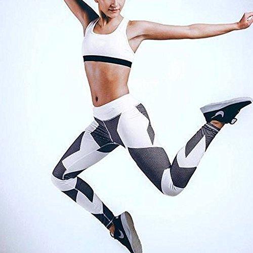 wlgreatsp Donne Pantaloni da yoga funzionamento di ginnastica Allenamento Leggings Opaco Yoga Fitness Palestra Ghette Pa bianca