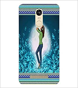 PrintDhaba Music Girl D-3575 Back Case Cover for XIAOMI REDMI NOTE 3 PRO (Multi-Coloured)