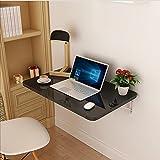 YMXLJF Klappbarer Wand-Schreibtisch (Farbe : SCHWARZ, größe : 80cm*50cm)