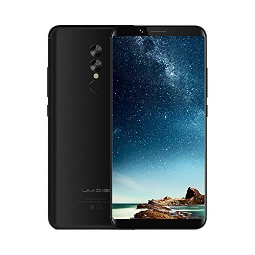 UMIDIGI S2 Lite Smart Phone SIM Free 4G Mobile Phone, 6 inch HD (18:9 full screen) 5100mAh, Face Unlock 1.5GHz Octa Core 16.0MP + 5.0MP Dual Rear Cameras Type-C,Android 7.0 [Black]