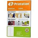 Universal Etiketten 99,1 x 33,9 mm 400 Adresssticker blanko weiß runde Ecken auf 25 DIN A4 Bogen - 99,1x33,9 Labels/Sticker selbstklebend bedruckbar