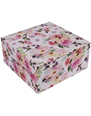 RELIABLE Packaging White Floral Cake Box for 1kg Cake - Pack of 5