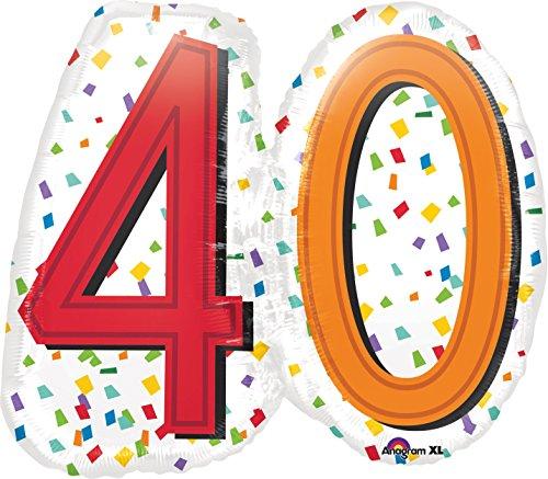 Amscan 3444501 Super Shape Rainbow Birthday Folienballon, 40 (Doppelter Regenbogen Kostüm)