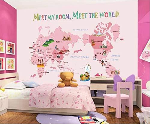 WORINA 3d wallpaper rosa karte cartoon handgemalte kindersofa hintergrund wandmalerei wohnzimmer kinderzimmer tapete, 400x280 cm