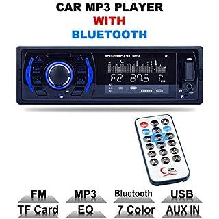 Auto-Stereo mit Bluetooth Handsfree I Smartphone Ladefunktion via 2. USB Port I Carbon Look I 7 LED-Farben Adjustable I USB, SD, MP3, AUX I 1 DIN