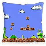 VOID 8-Bit Level Power Kissenbezug Kissenhülle Outdoor Indoor super Videospiel Konsole SNES n64, Kissen Größe:40 x 40 cm