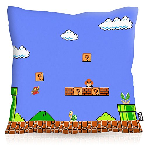VOID 8-Bit Level Power Kissenbezug Kissenhülle Outdoor Indoor super Videospiel Konsole SNES n64, Kissen Größe:40 x 40 cm