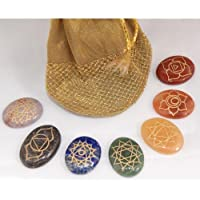 Gifts and Guidance Chakra Crystals Set Bag Oval Flat Cabachon With Chakra Symbols by Gifts and Guidance preisvergleich bei billige-tabletten.eu