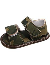 Fossen Verano Zapatos Bebe con Suela Dura Caucho Cuero Artificial Primeros Pasos Sandalias de Antideslizante Para 0-24 Meses Recien Nacido Niña Niño