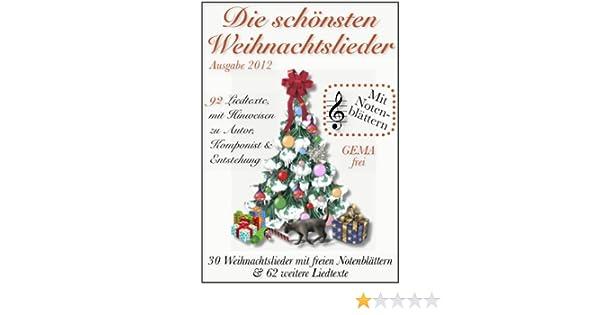 Die Schönsten Weihnachtslieder Zum Ausdrucken.Die Schönsten Weihnachtslieder Mit Notenblättern Gema Frei Ebook