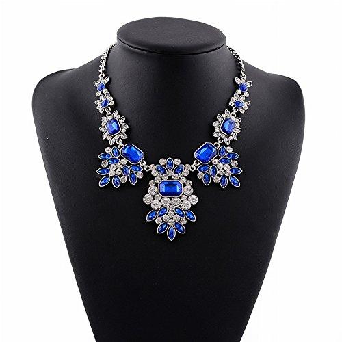 Griechisch für Frauen Götter Ägyptischen Falschen Kragen Übertrieben Kurzen Diamant Halskette für Frauen Mode Lange Bekleidungszubehör , Blau (Halskette Kragen ägyptische)