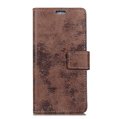 jbTec® Flip Case Handy-Hülle #M36 Vintage Style zu HTC U-Serie - Tasche Book Cover Etui Schutz Wallet Schutz-Hülle, Farbe:Braun, Modell:HTC U12 Life