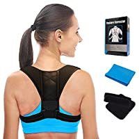 Posture Corrector for Women and Men - Posture Support for Slouching & Hunching - Comfortable and Adjustable Posture Brace for Shoulder, Upper Back, and Neck Pain Relief - Spinal Support by Pripaso