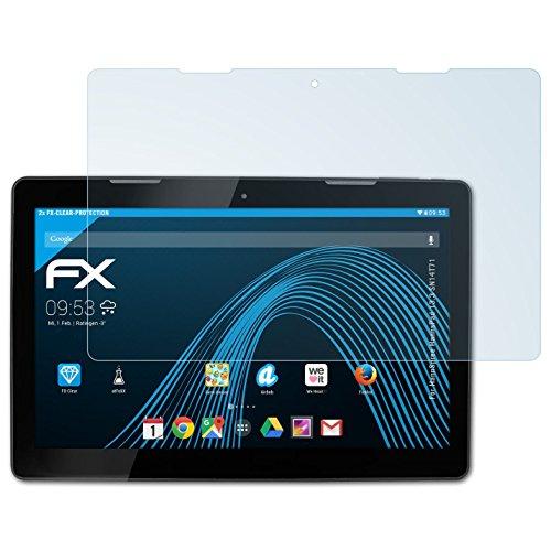 atFolix Schutzfolie kompatibel mit HannSpree HannsPad 13.3 SN14T71 Folie, ultraklare FX Displayschutzfolie (2X)