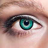KwikSibs farbige Kontaktlinsen, grün, große Augen/big Eyes, weich, inklusive Behälter, BC 8.6 mm/DIA 15.0/-2,50 Dioptrien, 1er Pack (1 x 2 Stück)