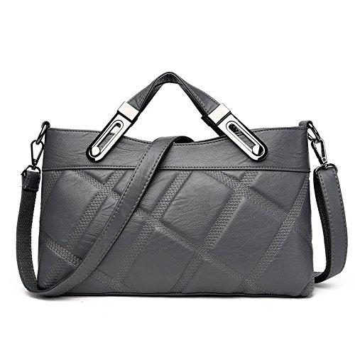 Meoaeo Portable Croce Obliqua Bag 2017 Europea E Lo Stile Americano Blu Navy Light grey