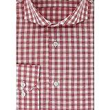 Cotton Park - Chemise cintrée vichy rouge et blanc - Homme