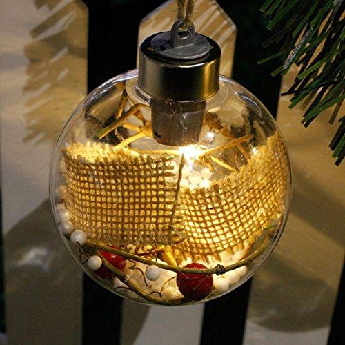 Hunpta Frohe Weihnachtsbaum LED Birne Licht Ball Ornament Weihnachten Garten Festival Decor (B) (Kürbis-ball Ornament)
