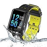 TECKEPIC N88 Montre Connectée Smartwatch Bracelet Connecté Trackers d'activité...