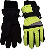 N'Ice Caps Kids Neon Reflector Thinsulate and Waterproof Ski Gloves