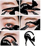 Eyeliner Cat - Set di 2 stencil a forma di gatto, per Smokey Eyes e Cateyes