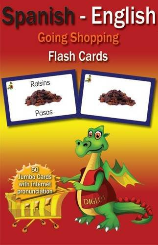 Diglot Dual-Language books and flashcards: Going Shopping Flashcards Spanish/Eng