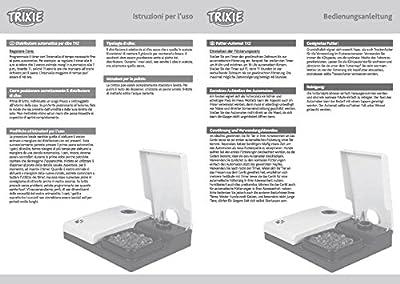 Trixie TX2 Automatic Food Dispenser, 300 ml/ 27 × 7 × 24 cm, Granite/ Black