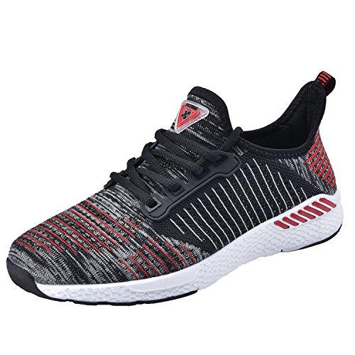 NEOKER Sneaker Herren Damen Atmungsaktives Tennisschuhe Freizeitschuhe Leicht Casual Schwarz 37 (Casual Low Socken)