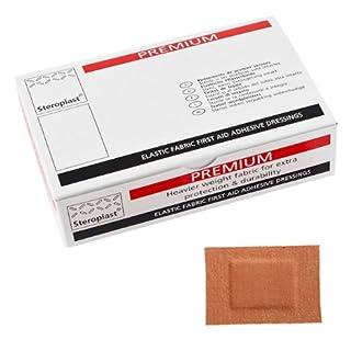 Steroplast Premium Heavy Weight Fabric 7.5cm x 5.0cm Plasters Qty 50