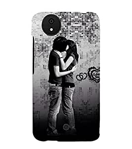 Beautiful Kiss moment 3D Hard Polycarbonate Designer Back Case Cover for Micromax Android A1 :: Micromax Canvas A1 AQ4502