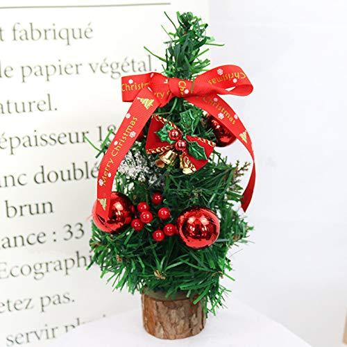 Trees - 25cm Mini Christmas Tree Decorations Creative Pine Girl Rabbit Bell Xmas Pendant Desktop Festival - Vol. Resin Photography Tapestry Updated Skirt Plants Door Accessories Topiary