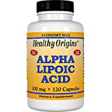 Healthy Origins, Acide alpha-lipoïque, 100 mg, 120 Capsules