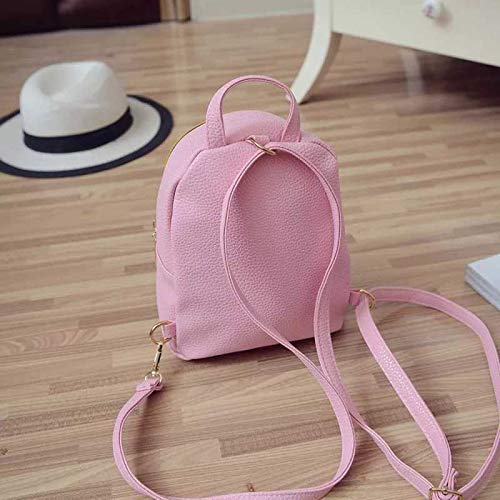Best mini backpacks for girls in India 2020 JSPM® PU Leather Mini Backpack School Bag Student Backpack Women Travel bag Tuition Bag Backpack (Pink SP-0342) Image 3