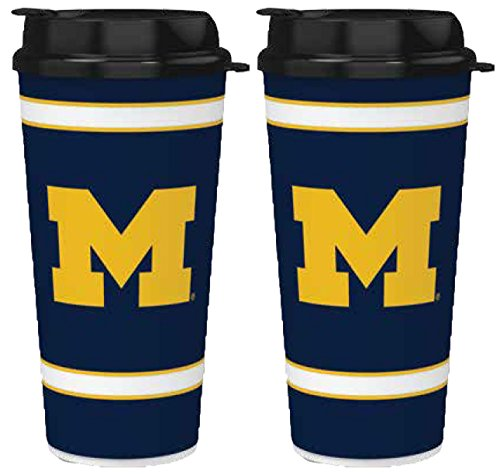 NCAA Michigan Wolverines 907Single Wand Thermobecher 2Stück -