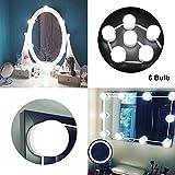 LED Spiegelleuchte, Hollywood-Stil LED Schminkspiegel Kit, Dimmbaren Spiegellampe 6000K Weiß LED...