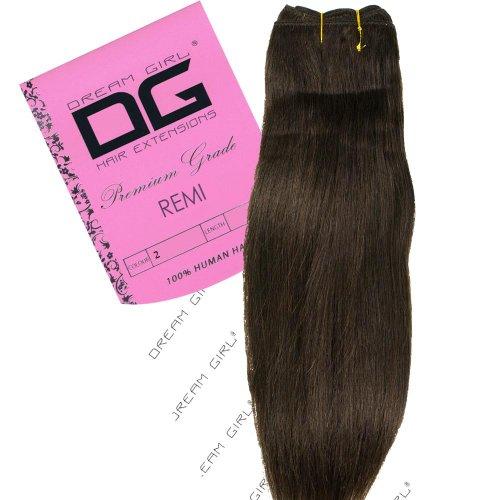 Dream Girl Extensions de cheveux Remi sur trame Couleur n°2 40,6 cm