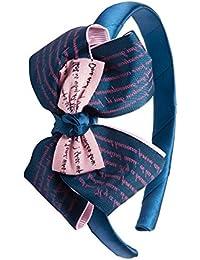 Lill Pumpkins Blue Written Bow hairband