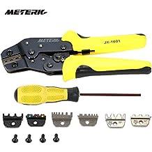 Meterk 4 en 1 Kit de Herramientas de Crimper de Alambre/ Wire Crimper Terminal de Trinquete Pinzas de Crimpado Pinza de Arranque Pinza de Sujeción Herramienta Terminales