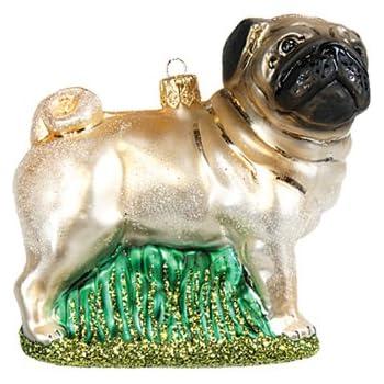 christbaumschmuck figuren hunde mops pug 10cm. Black Bedroom Furniture Sets. Home Design Ideas