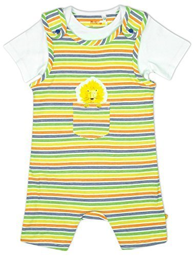 Baby Boys Lion Pocket Stripe Bib Shorts & Bodysuit Top Set sizes from Newborn to 12 Months