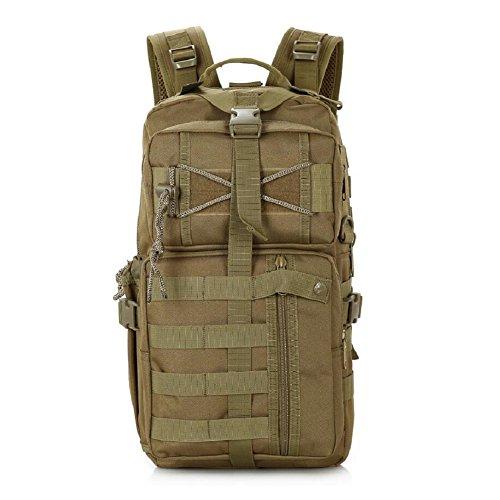 LF&F Backpack 20-35L Kapazität wasserdichtes Nylon Militärfans Tarnung taktischer Rucksack Outdoor-Umhängetasche Reise Reiten Wandern Bergsteigen Tasche Urlaub Tasche Tasche Unisex D