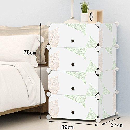 Flashing-DIY Résine ABS Cabinet de lit en plastique, Armoires de rangement Mini, Simple Lockers Simple Cabinet de lit moderne avec portes (taille : 39 * 75 * 37cm)