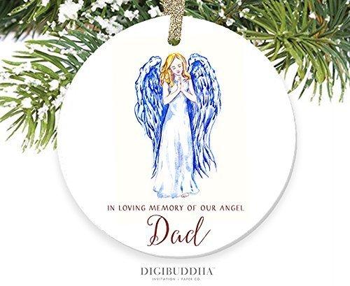 Handwerk in Loving Memory of Dad Vater Gedenkstein, Engel Xmas Tree Ornament Kleiderbügel Geschenk für Frauen ()