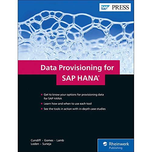 Data Provisioning for SAP HANA (SAP PRESS: englisch)