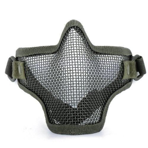 PRIMI verstellbar und Elastic Gurtband Stahl Half Face Mesh Mask für Felder Schutz (grün)